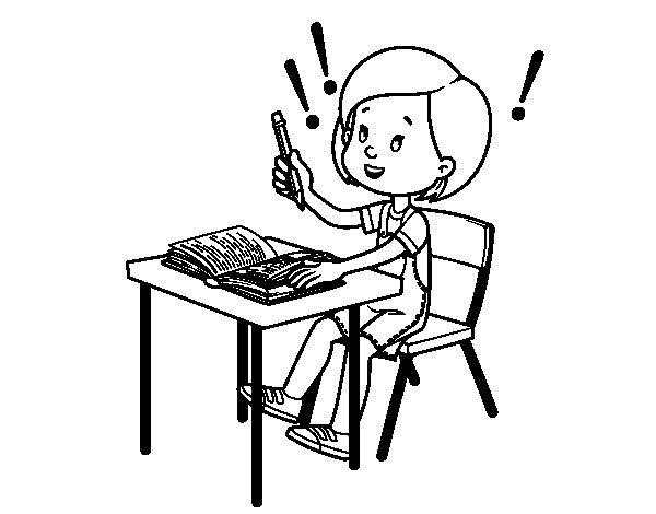 Dibujo de Examen de colegio para Colorear - Dibujos.net