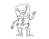 Dibujo de Extraterrestre con cuatro piernas para colorear