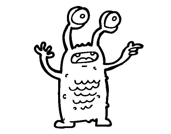 Dibujo De Extraterrestre Con Los Ojos Salidos Para