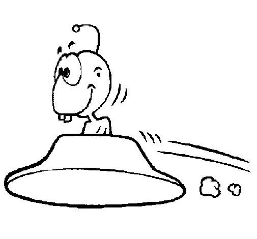 Dibujo de Extraterrestre volando para Colorear