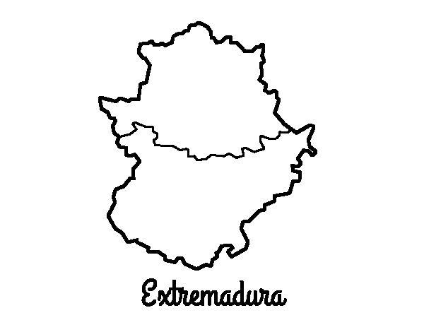 Dibujo de Extremadura para Colorear