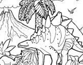 Dibujo de Familia de Tuojiangosaurios para colorear