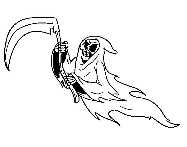 Dibujo de Fantasma de la muerte para Colorear