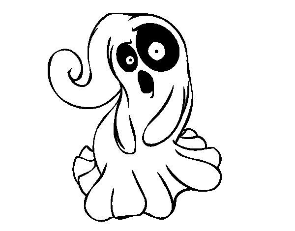 Dibujo de Fantasma tenebroso para Colorear