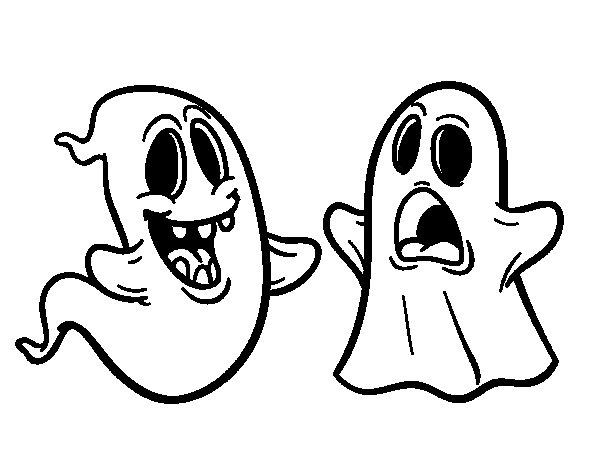 Dibujo de Fantasmas para Colorear