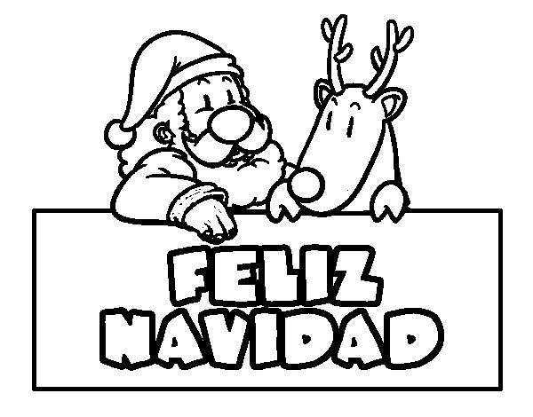 Dibujo de Felices navidades para Colorear - Dibujos.net