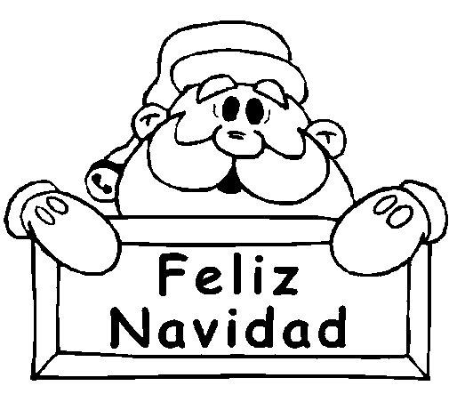 Dibujo de Feliz Navidad para Colorear - Dibujos.net