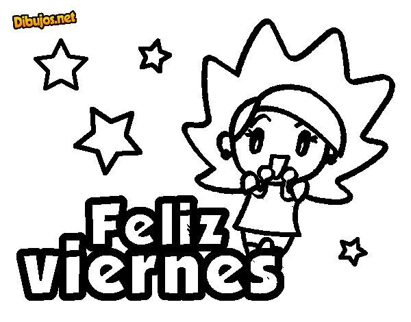 Dibujo de Feliz viernes para Colorear