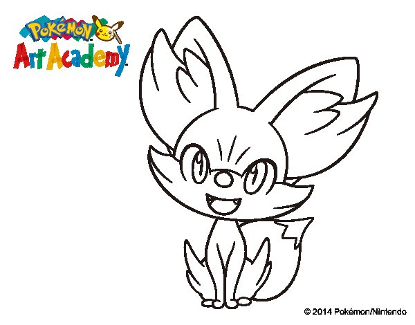 pokemon fennekin coloring pages coloring pages