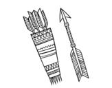 Dibujo de Flechas indias para colorear