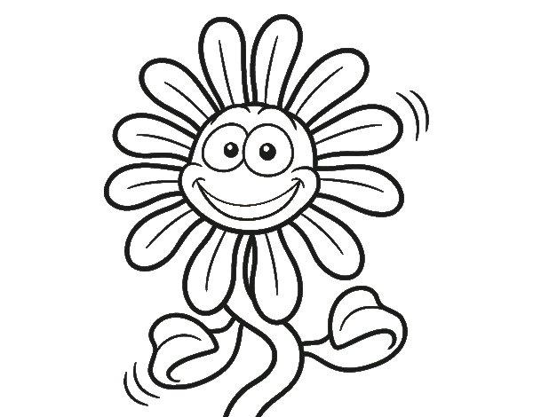 Dibujo de Flor animada para Colorear