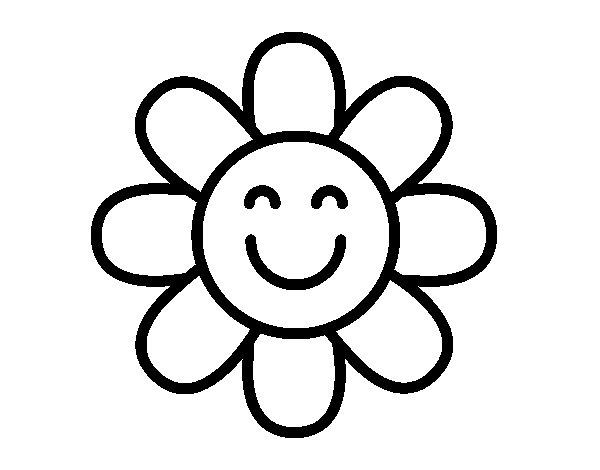 Dibujo de Flor sencilla para Colorear
