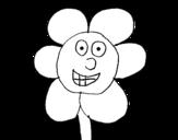 Dibujo de Flor sonriente
