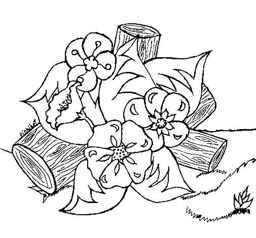 Dibujo de Flores I para Colorear