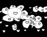 Dibujo de Flores y corazones