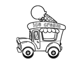 Dibujo de Food truck de helados