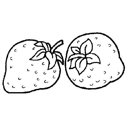 Dibujo de Fresas para Colorear