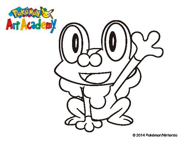 Dibujo de Froakie saludando para Colorear - Dibujos.net