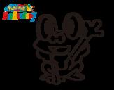 Dibujo de Froakie saludando