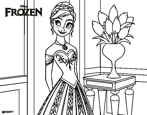 Dibujos Para Colorear E Imprimir De Frozen: Imagenes De Frozen Para Colorear