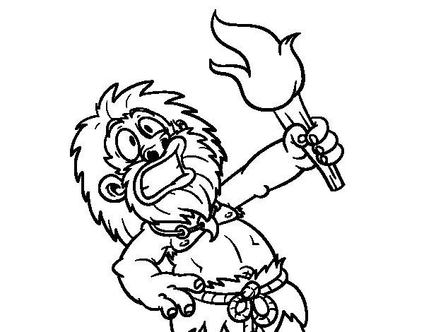 Dibujo de ¡Fuego! para Colorear