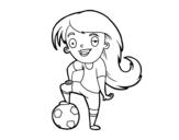 Dibujo de Fútbol femenino para colorear