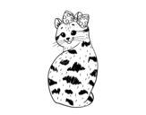 Dibujo de Gatita presumida para colorear