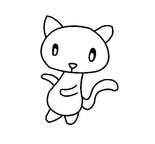 Dibujo de Gato garabato para Colorear