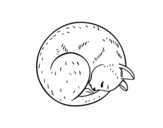 Dibujo de Gato reposando
