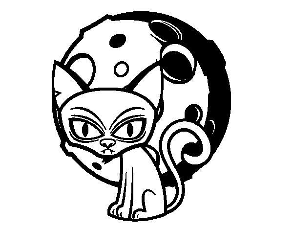 Dibujo de Gato tenebroso para Colorear