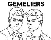 Dibujo de Gemeliers - Mil y una noches para colorear