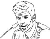 Dibujo de Gerard Piqué en rueda de prensa