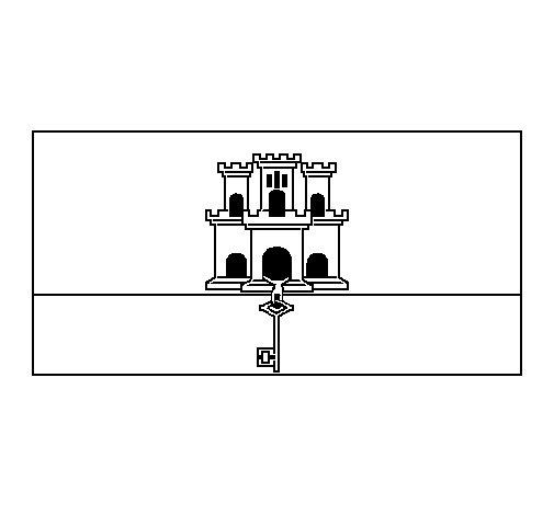 Dibujo de Gibraltar para Colorear