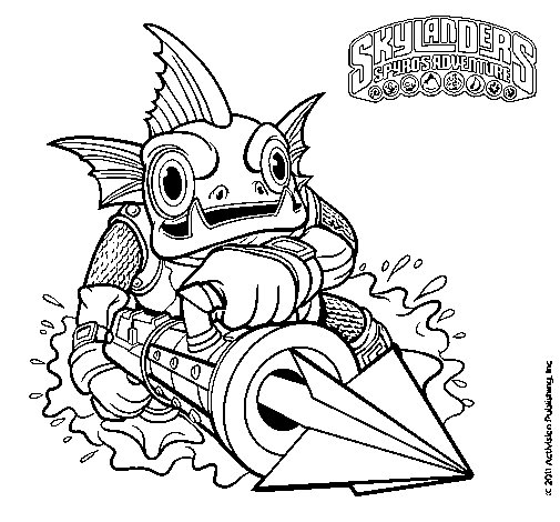 gill grunt coloring pages - photo#12