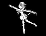 Dibujo de Gimnasta rítmica