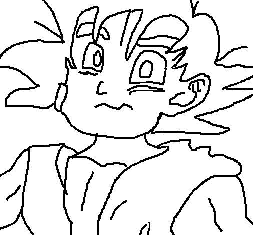Dibujo de Goku para Colorear