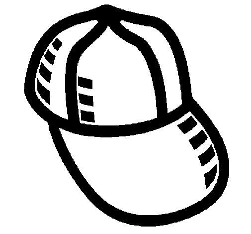 Dibujo de Gorra de béisbol para Colorear