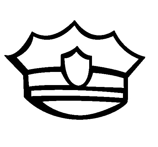 Dibujo de Gorra de policía para Colorear