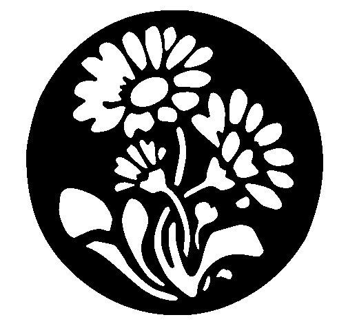 Dibujo de Grabado con flores para Colorear