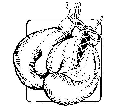 Dibujo de Guantes de boxeo para Colorear