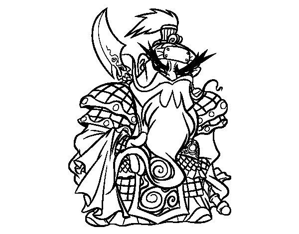 Dibujo de Guerrero chino Guan Yu para Colorear