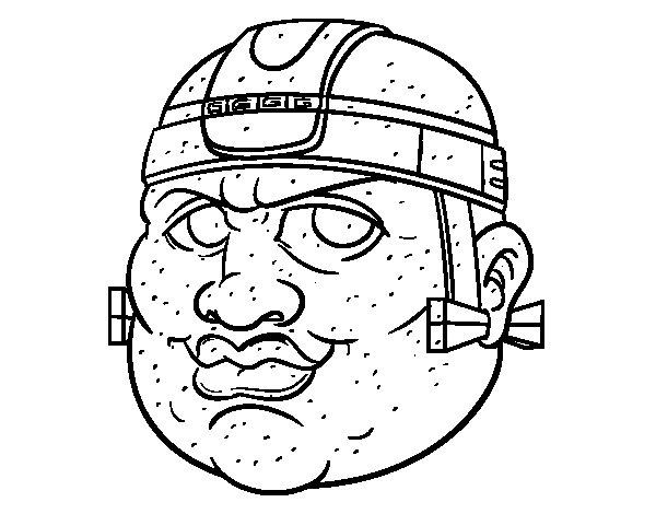 Dibujo de Guerrero maya para Colorear