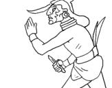 Dibujo de Guerrero  para colorear
