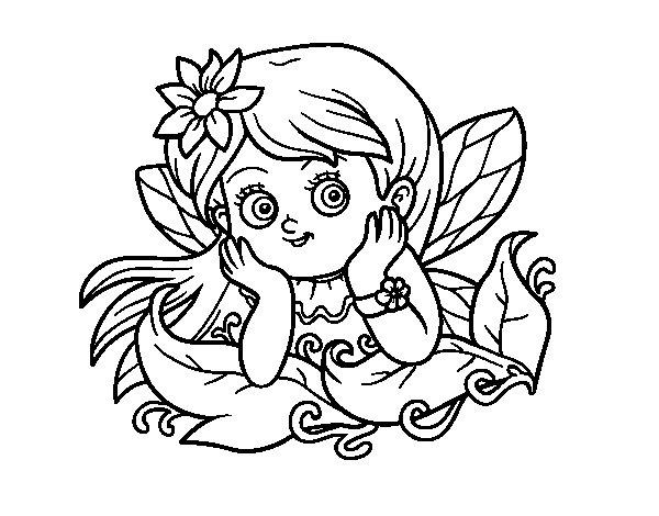 Dibujo de Hada bonita para Colorear
