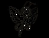 Dibujo de Hada mariposa contenta para colorear