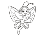 Dibujo de Hada mariposa contenta