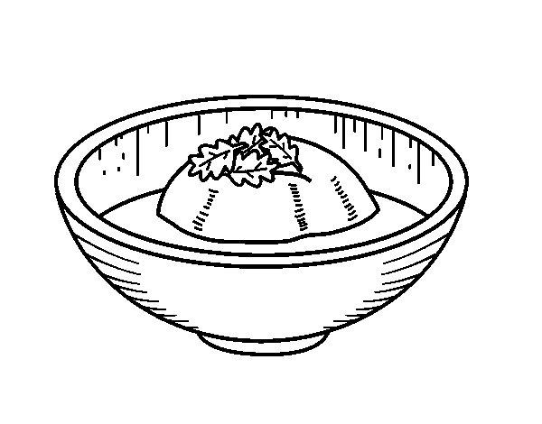 Dibujo de Helado de té para Colorear