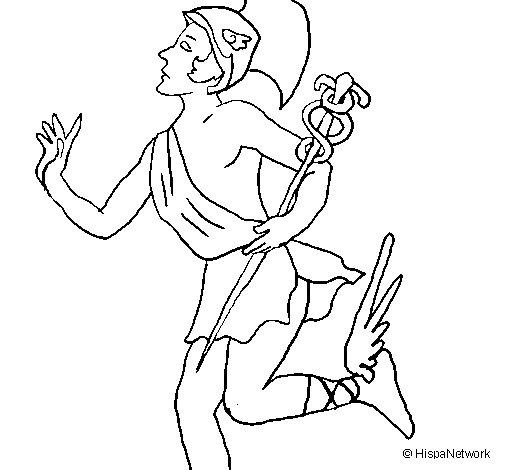 Dibujo de Hermes para Colorear