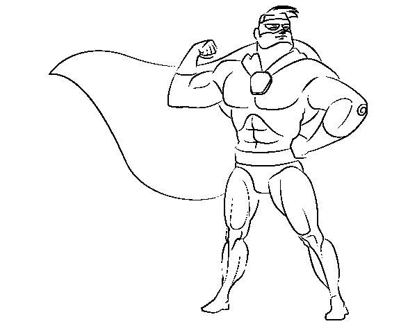 Dibujo de h roe enmascarado para colorear for Immagini super eroi da colorare
