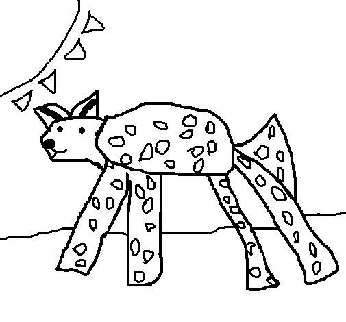 Dibujo de Hiena para Colorear